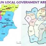 MAP OF LOCAL GOVERNMENT AREAS OSUN