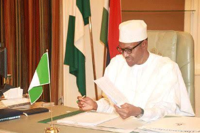 photos of PMB and Osibanjo getting to work today in Aso Rock