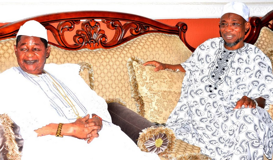 Alaafin of Oyo's Condolence Visit to Governor Aregbesola on Ooni of Ife's Transition