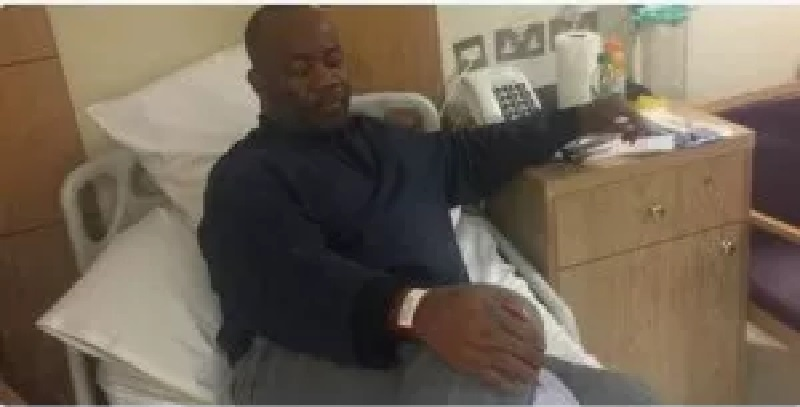 Akpabio's message from his hospital bed to Nigerians