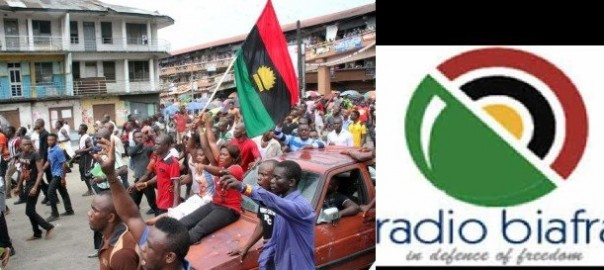 BIAFRA: Placard-carrying activists protest in Aba, saying, 'Biafra or Death'