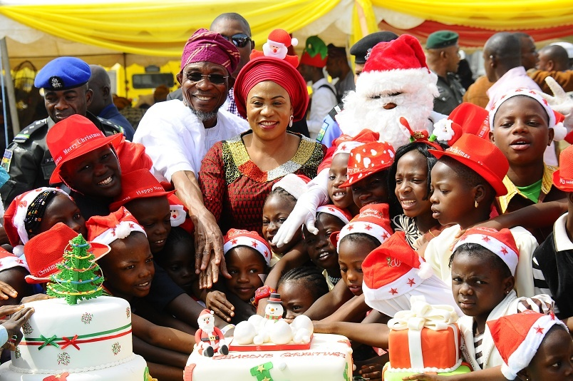 Governor Aregbesola and wife celebrates Christmas with Osun Children 2015