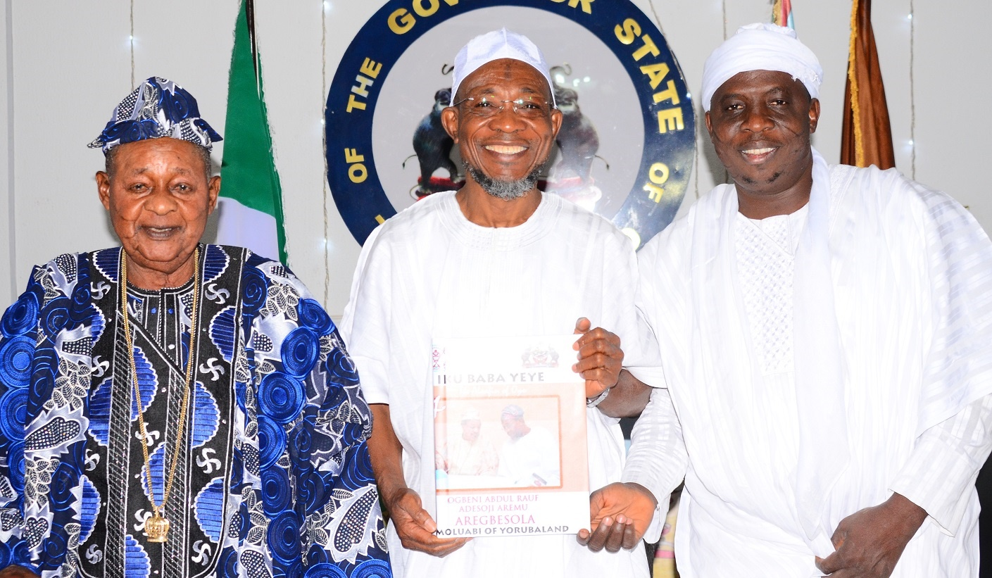 "Alaafin names Aregbesola the ""Omoluabi of Yorubaland"""