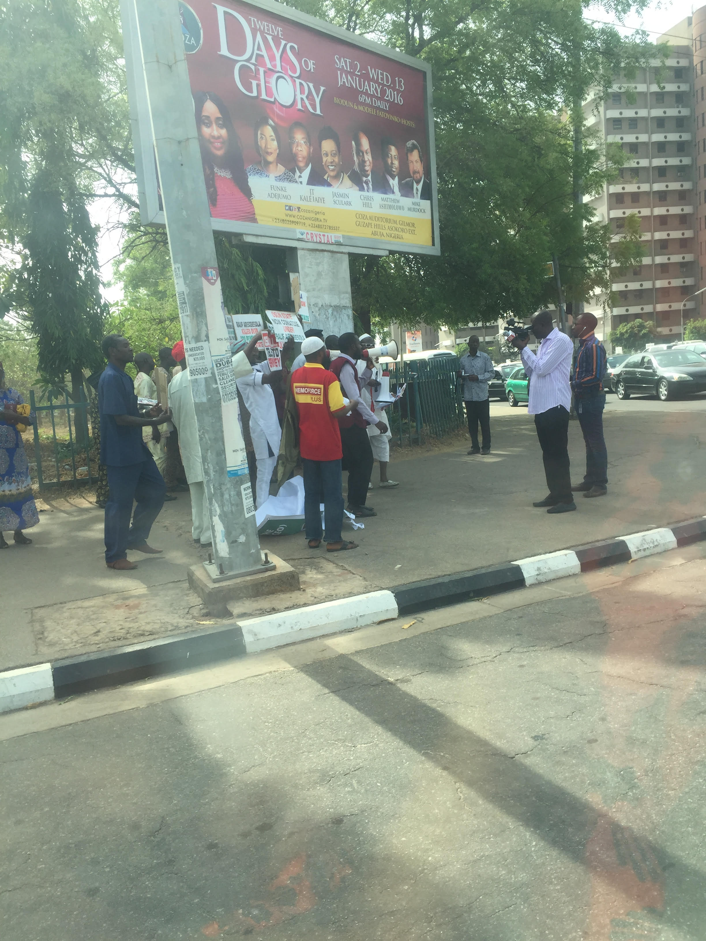 Photos: Low Turnout Mars Anti-Aregbesola Protest, As Hired Hands Abscond