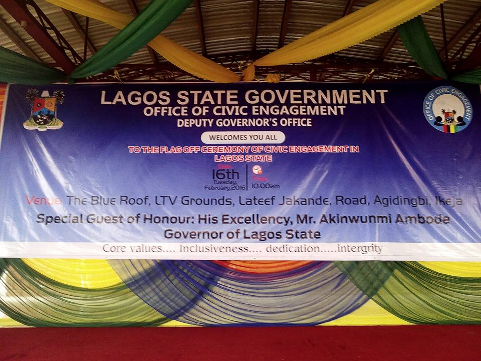 Lagos Flags Off Office Of Civic Engagement