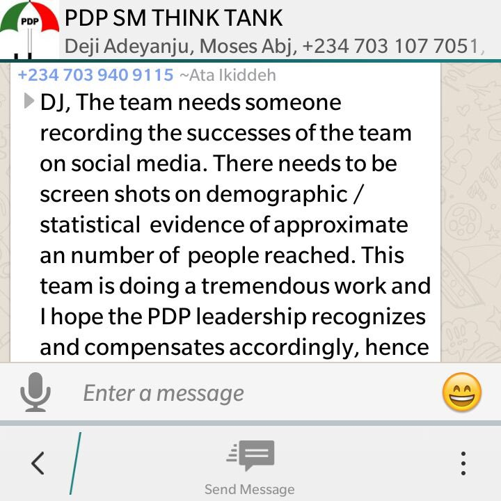 Photos: Conversation Of PDP Online Trolls, Who Trend Hashtags To Extort Money From Party Chieftains