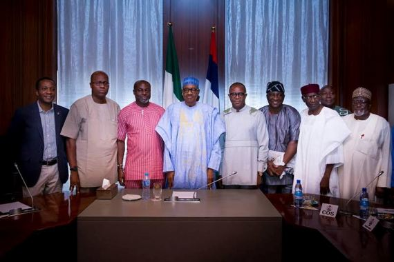 Buhari Meets Leaders Of NUPENG, PENGASSAN Over Oil Industry