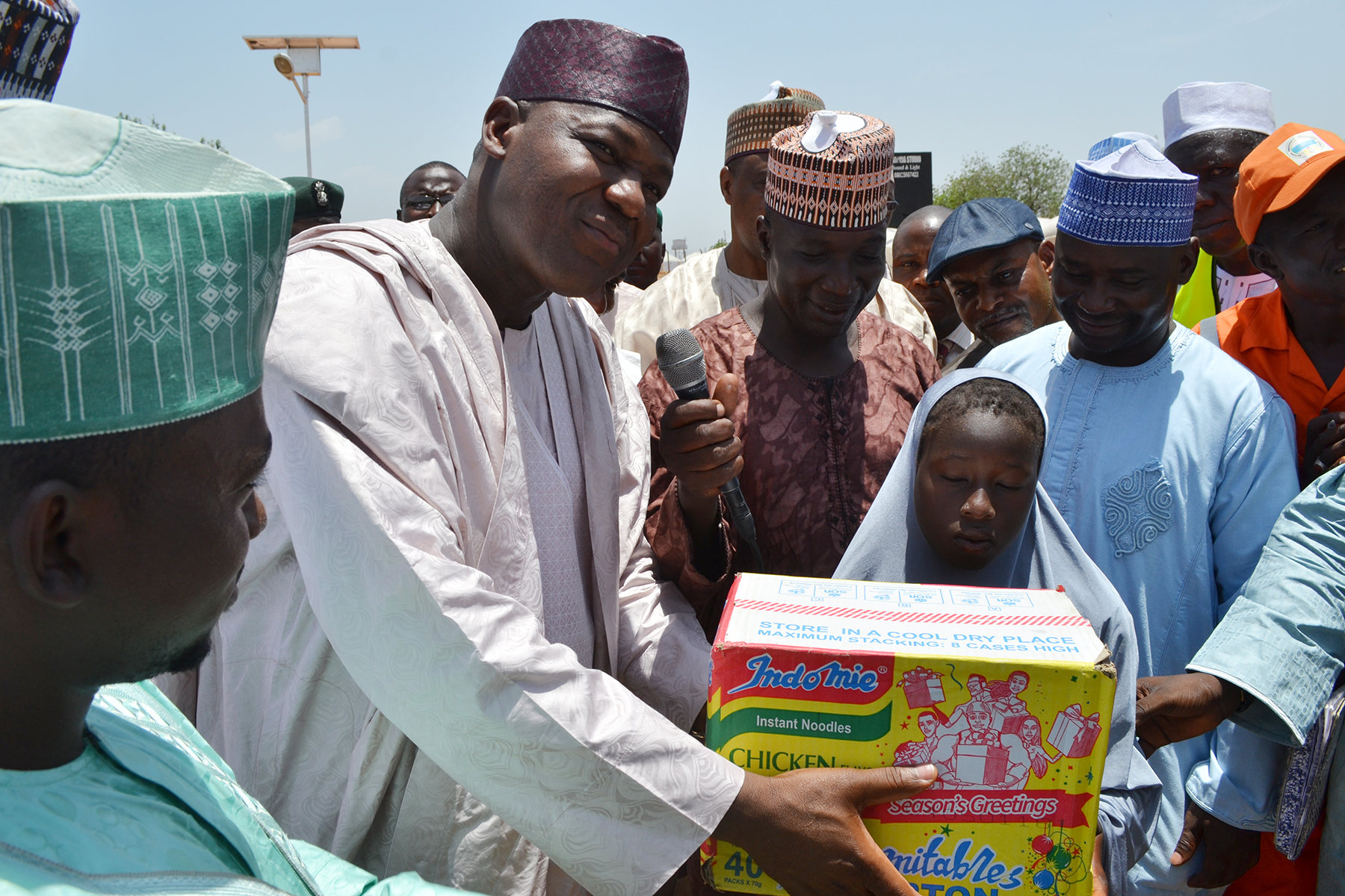 "Dogara Visits Adamawa IDPs, Says ""Our Priority Is To Return All IDPs Home"""