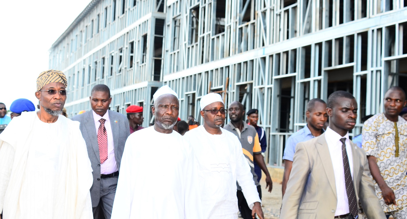Photonews: Aregbesola Inspects New Building Of Ilesha Government High School