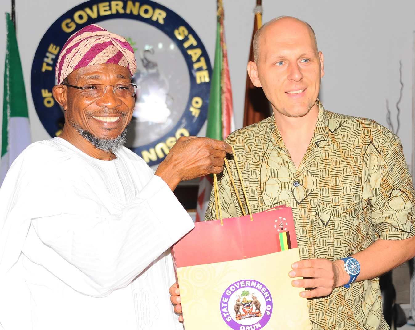 Photonews: Aregbesola Receives German Expert On Agricultural Training