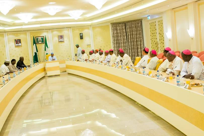 Buhari Assures Catholic Bishops Security Agencies Will Deal With Rampaging Herdsmen