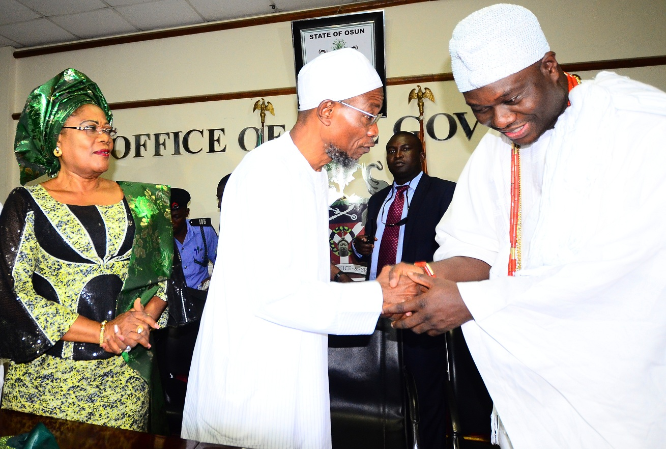 Interactive Session Between Aregbesola And Ooni Over Deforestation (Photos)