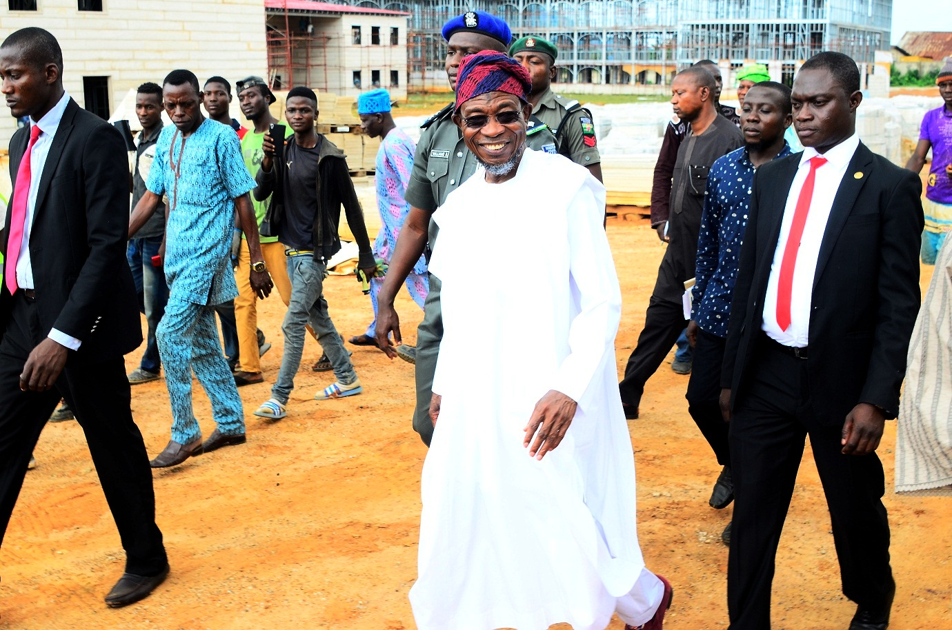 Aregbesola Inspects Ongoing Construction Of Ilesa Government High School (Photonews)