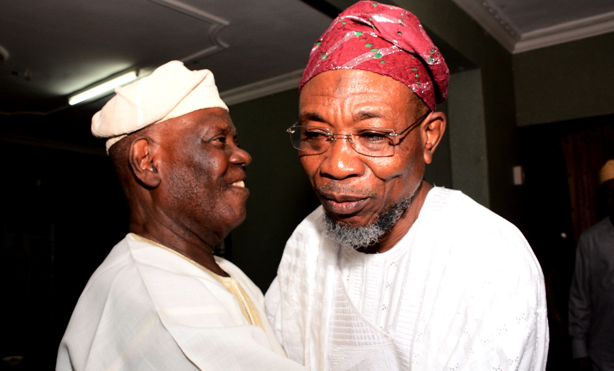 Aregbesola Celebrates Eid With Chief Bisi Akande (Photos)