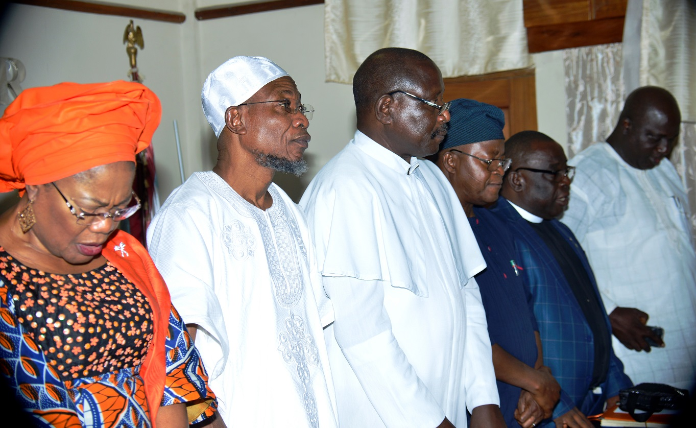 Photo News: CAN Osun Chapter Joins Aregbesola In Prayer For Osun