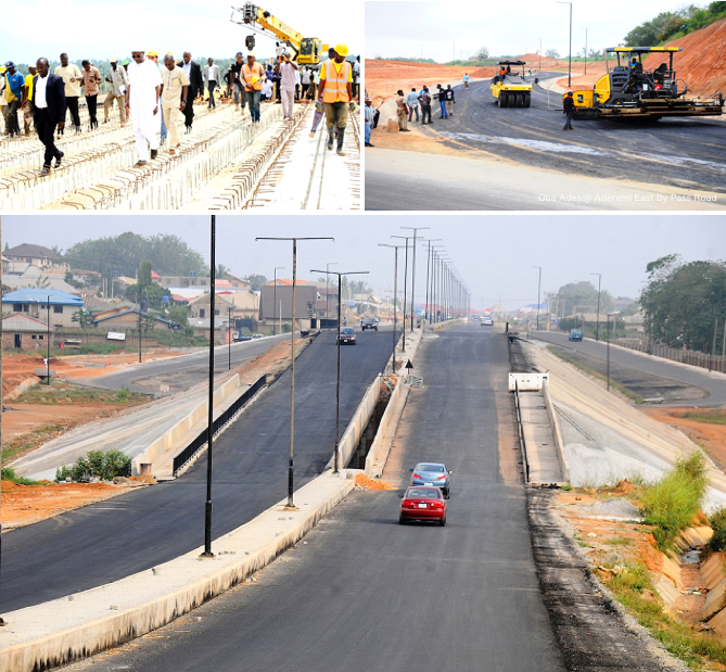 A cross section of road projects in Osogbo, Osun State capital