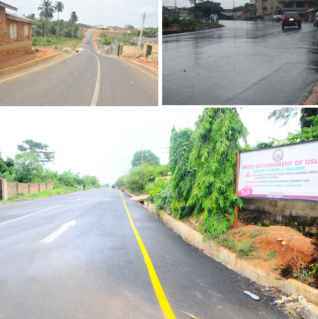 A cross section of the 300km council roads built across all Local Governments Areas in the state of Osun