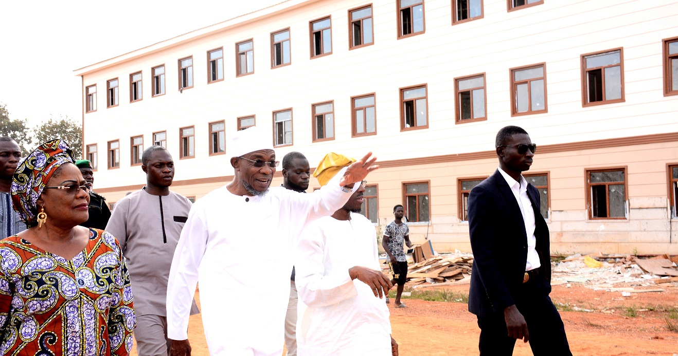 Photonews: Aregbesola, Deputy Inspects Ongoing Construction Of Ilesa Government High School