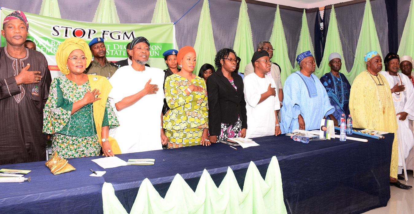 Wife of Osun Governor, Sherifat Aregbesola Initiates Eradication of Female Circumcision
