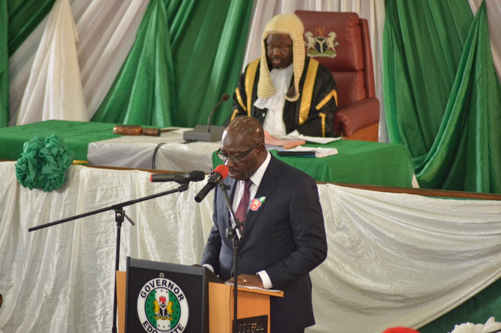 Edo's Governor Obaseki Presents N150b Budget Of Consolidation And Prosperity