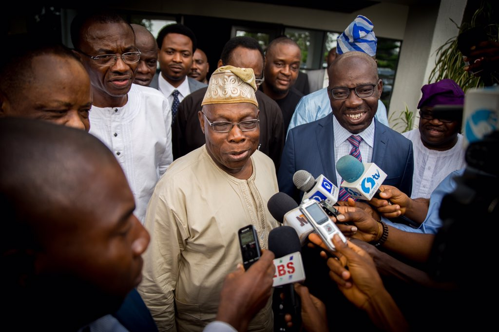 Obasanjo Visits Obaseki, Wells Farm To Boost Edo Economy