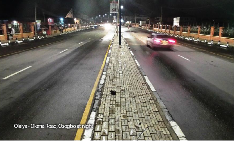 Olaiya - Okefia Road, Osogbo at Night