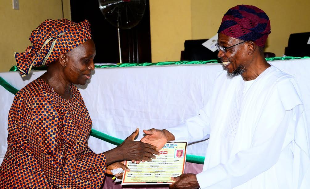 RE – Osun Pensioners Open IDP Camps For Members