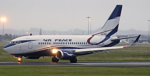 Air Peace suffers burst tyre at Murtala Muhammed International Airport