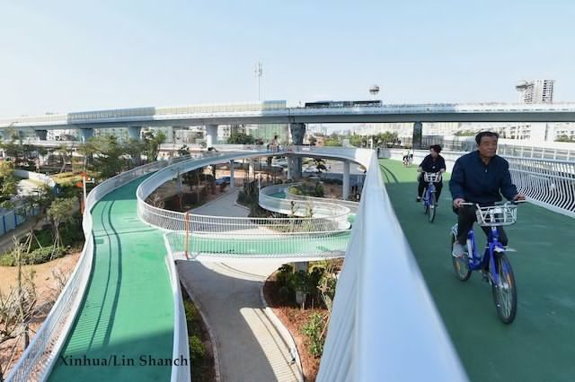 China Builds 7.6kms of Bicycle Path in the Air