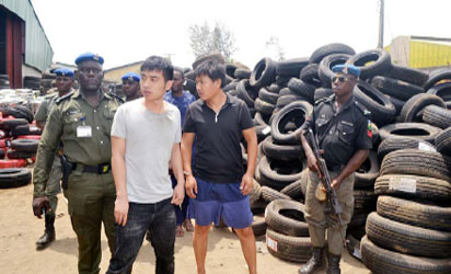 SON Arrests two Chinese for Importing N5bn Fake Tyres