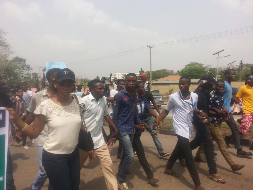 Breaking News: Students Protests Rocks Abeokuta