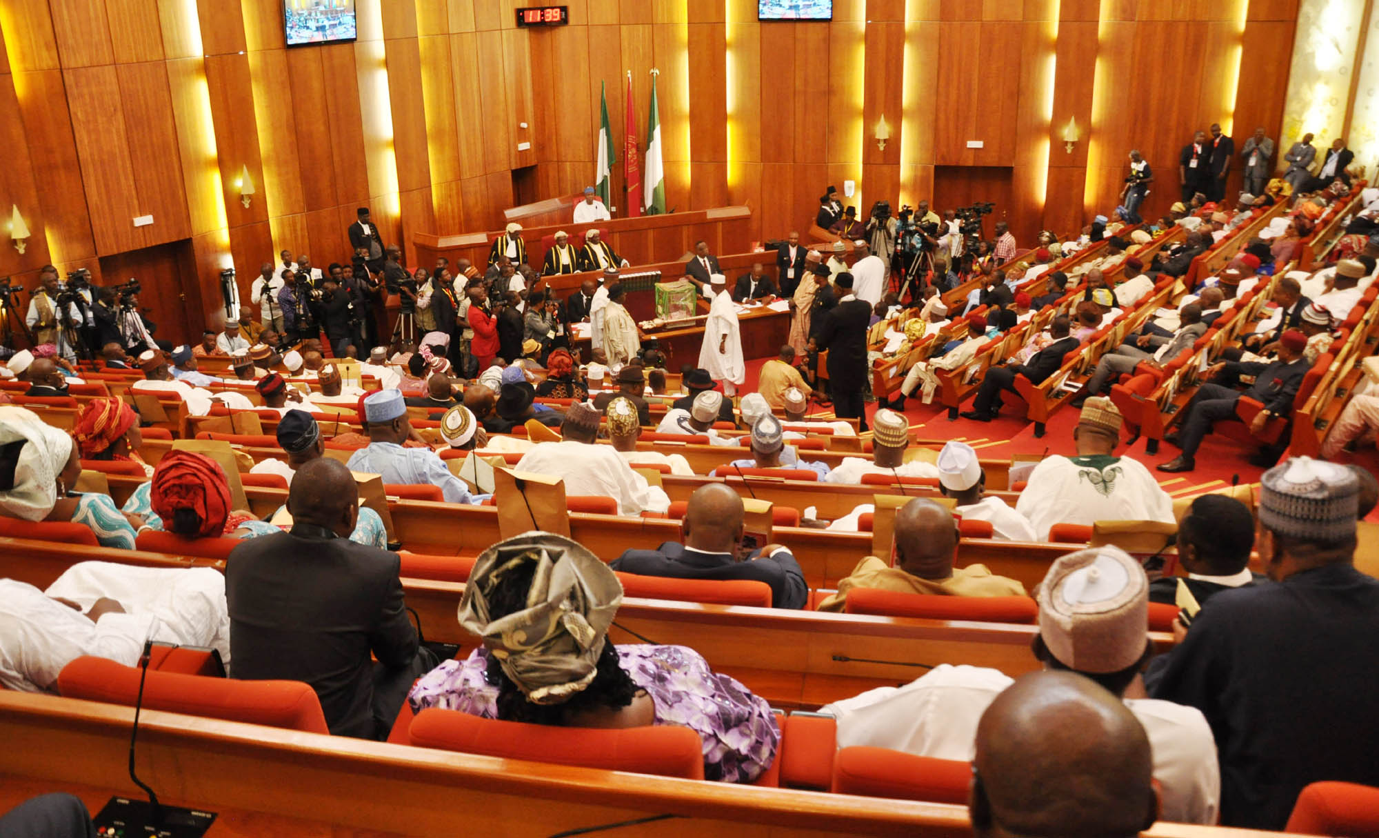 Senate Plenary Turns Rowdy Over Cross-Carpeting