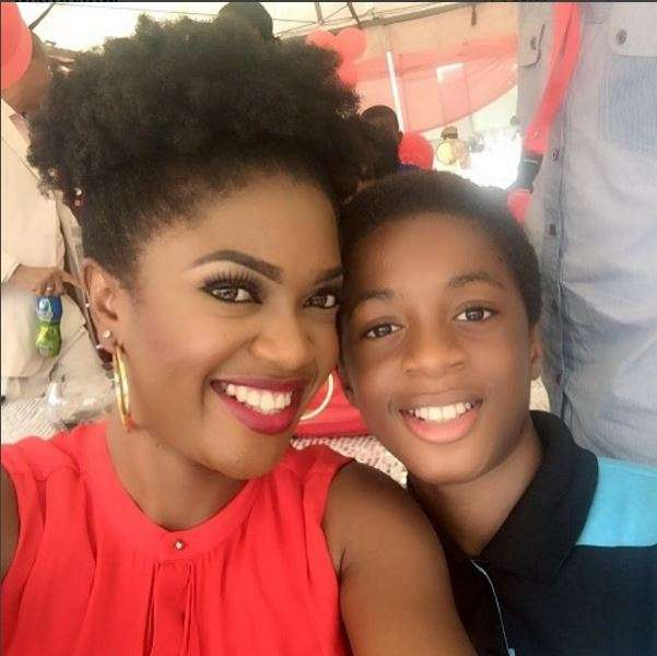 Movie Producer Omoni Oboli Celebrates her Son on his Birthday