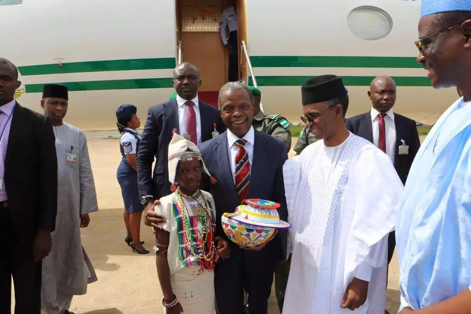 Acting President Yemi Osinbajo In Kaduna State On A Working Visit.