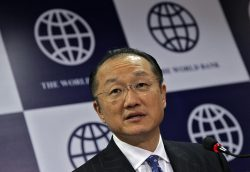 World Bank President Jim Yong Kim speaks during a news conference in New Delhi