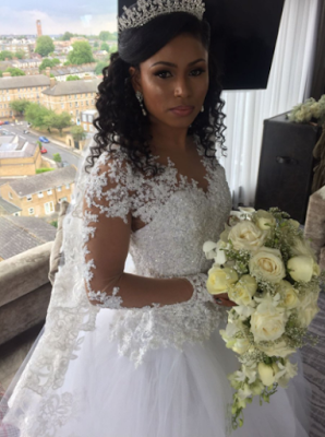 Checkout His Beautiful Handmade Wedding Gown