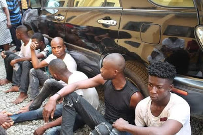 Abia Police Parades Man Who Raped 5year Old Girl, Suspected Cultist, Others