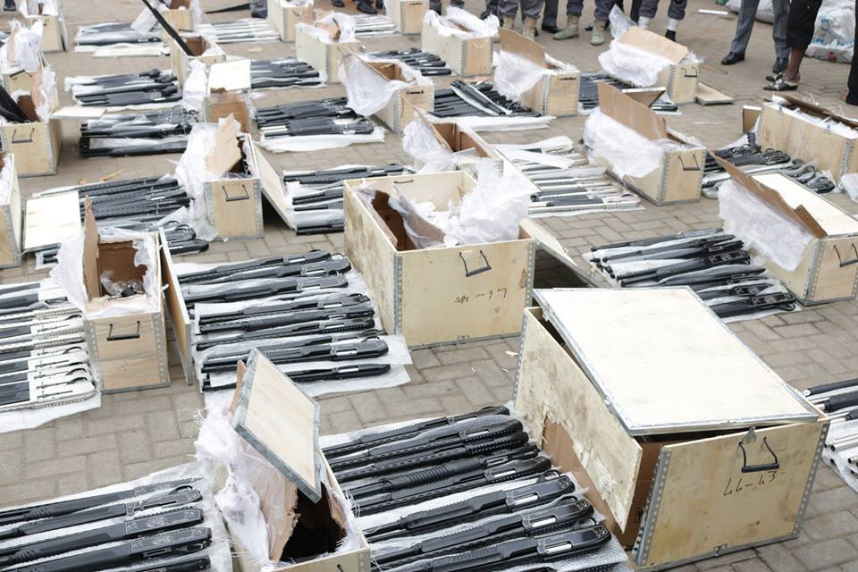 Custom Intercepts Container-load Of Arms At Lagos Port