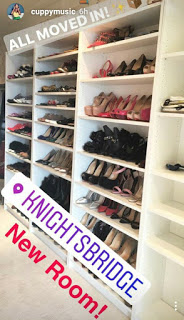 DJ Cuppy Displays Her Statuesque Shoe Closet In New Apartment (Photos)