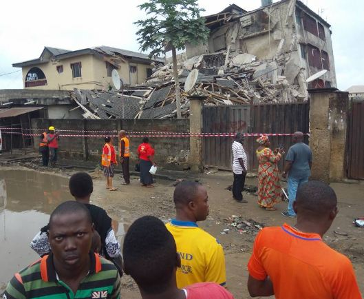 Residential Building Collapses In Lagos