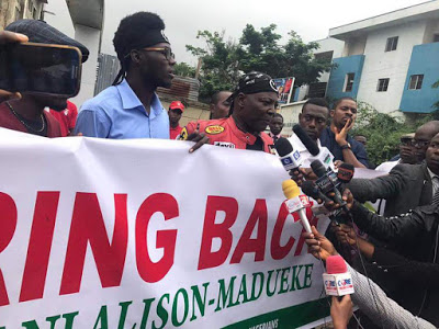 Protesters Storm EFCC Office To Demand Diezani's Repatriation