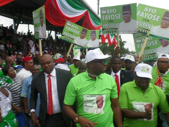 Its Inappropriate For Fayose To Declare His Presidential Ambition – Ekiti PDP
