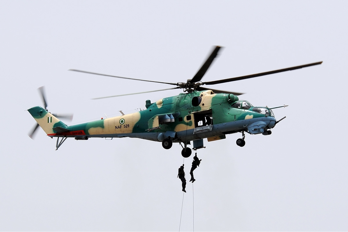 BREAKING: Air Force Helicopter Crashes In North East