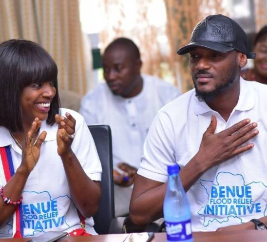 2face And Anine Idibia Gives Out Relief Material To Benue Flood Victims