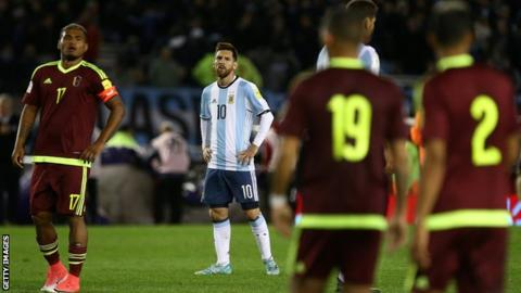 Argentina Struggle To Venezuela Draw
