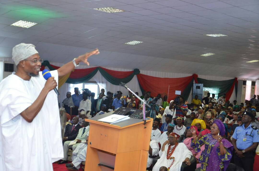 Read Full Speech Of Governor Rauf Aregbesola At The Commissioning Of Ilesa Government High School And Distribution Of Card Omoluabi