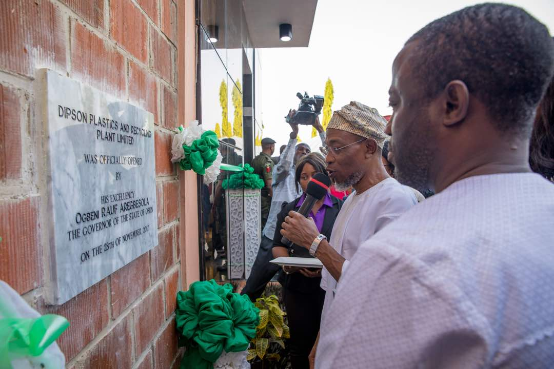 PHOTONEWS: Aregbesola Commissions Plastic Industry In Osun