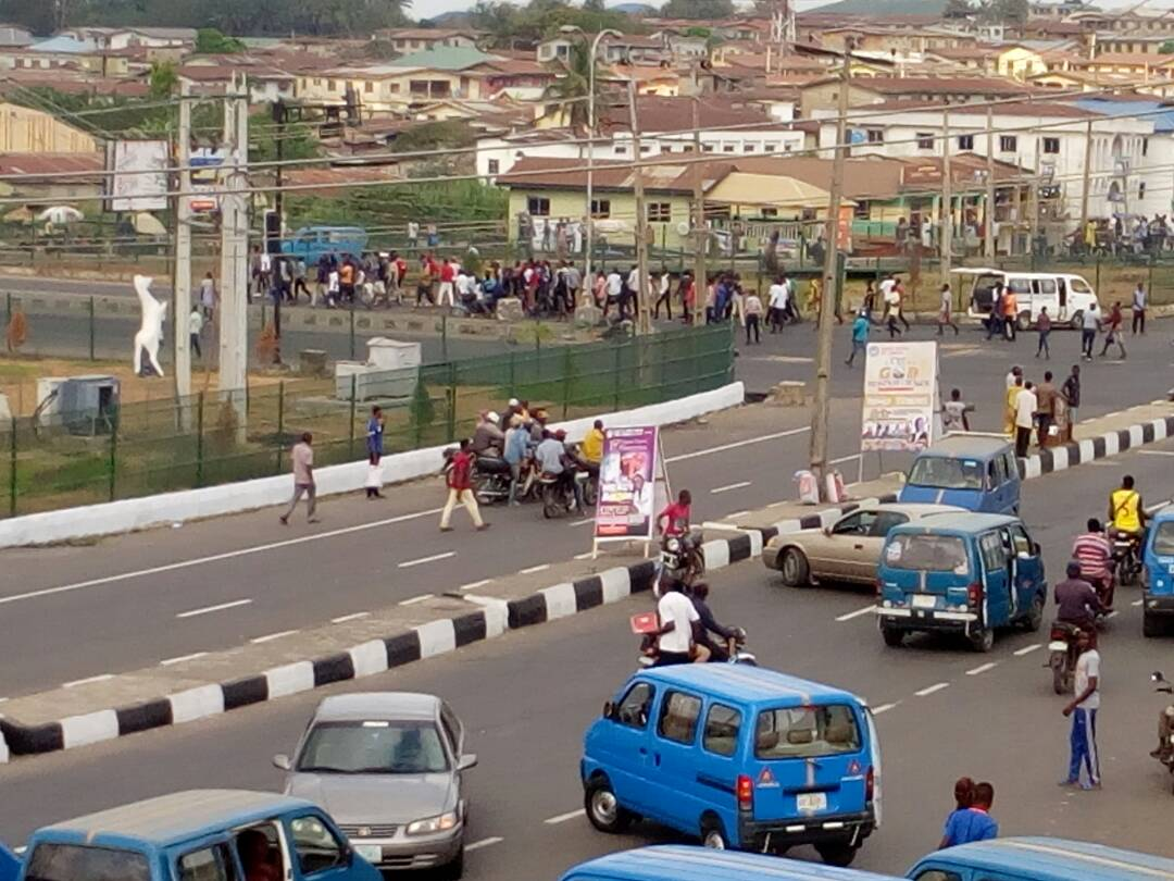 """Osun Students Protest Alleged """"Hike"""" In Tuition Fees"""