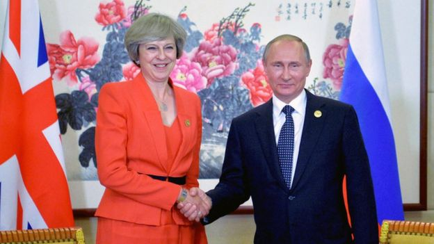 May Accuses Putin Of Election Meddling