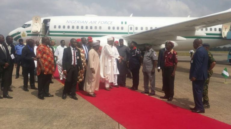 President Buhari Commences 2-Day Official Visit To Ebonyi, Anambra